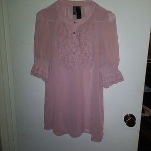 Bisou Bisou Pink chiffon top